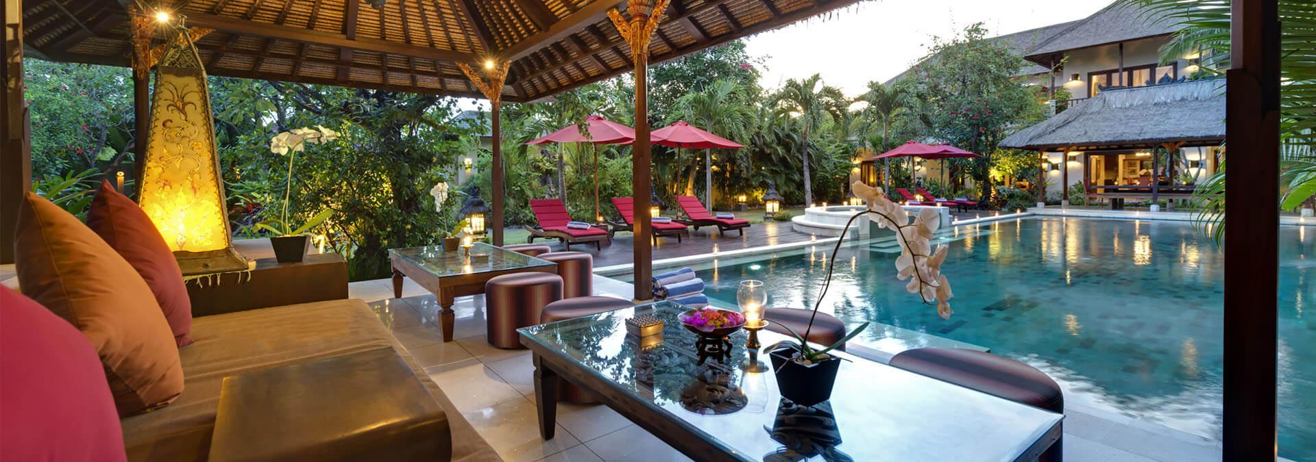 Villa-Kalimaya-I--Poolside-living-area-at-sunset